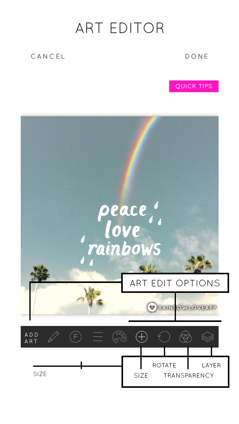 Rainbow-Love-Art-Editor