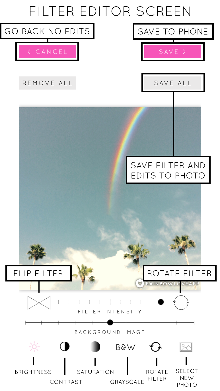 Rainbow-Love-FIlter-Editor-Screen
