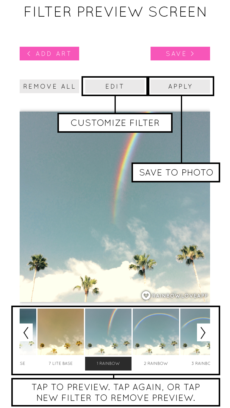 Rainbow-Love-Filter-Preview-Screen