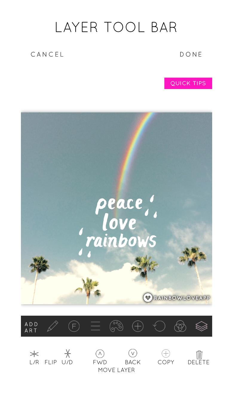 Rainbow-Love-Layer-Tool-Bar