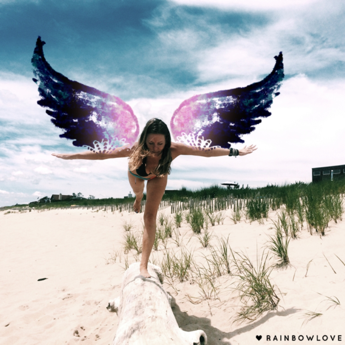 Rainbow-Love-App-Angel-Wings-Photo-Art-Warrior-3-Yoga